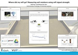 Poster on using Wifi to measure soil moisture, presented at the EGU Generall Assembly 2015. (link to pdf)